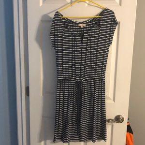 Blue/white stripe Loft dress